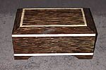 Decorartive wood box - Black Palm