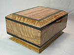 Decorative Keepsake Box - Solid bleached buninga with real ebony trim