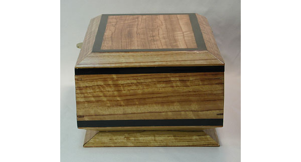 Bubinga Box - Handcrafted bleached solid bubinga box with ebony trim