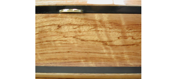 Bleached solid bubinga box - closeup - Bubinga Box