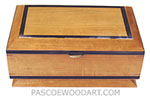 Ceylon Satinwood box with Ebony trim - Prism