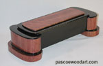Artistic wood box - African rosewood and ebonized cherry box - unique design