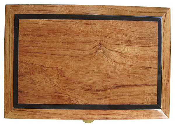 Bleached bubinga with ebony accent box top - Handcrafted wood box - Decorative wood keepsake box