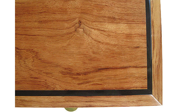 Bleached bubinga with ebony accent box top - Handcrafted wood box