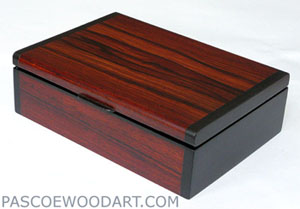 Bullion coin display box - Cocobolo, ebony
