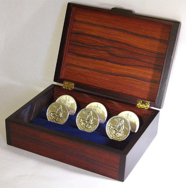 Bullion Coin Display Box Handmade Woodbox Made Of