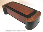 Artistic wood box - Handcrafted bubinga laminated on cherry and ebonized cherry box - unique design
