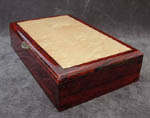 Artistic box: Caballero - Blistered maple lid with cocobolo box body