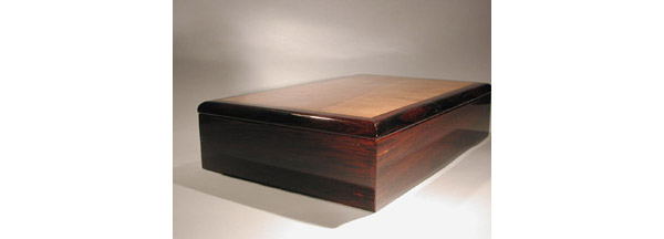 handmade cocobolo and pear wood box for men
