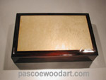 Men's valet box -  Handcrafted hardwood box - Colobolo, maple burl