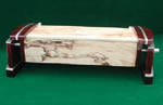 Handcrafted Artistic Box - Caboose II - Padauk box side and end pilasters with spalted maple body