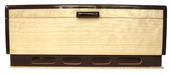 Decorative wood keepsake box - front view