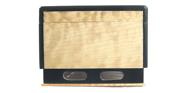 Decorative wood keepsake box - side view