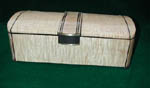 Handcrafted wood box - Tiger maple, ebony - keepsake box