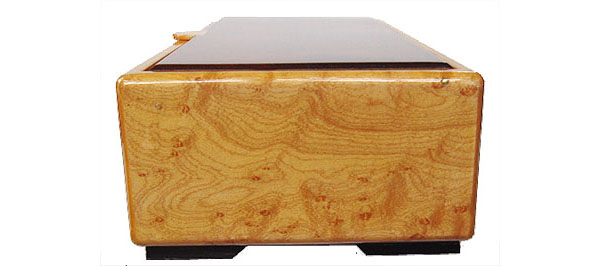 Bird's eye maple box end - Decorative wood desktop box