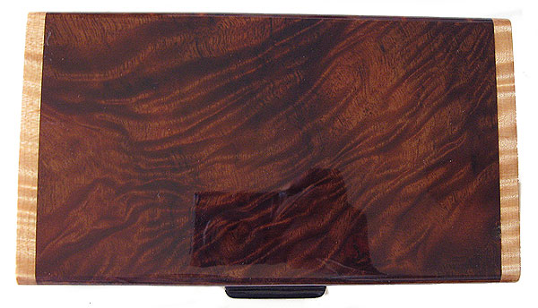 Camphor burl box top - Handmade wood desktop box