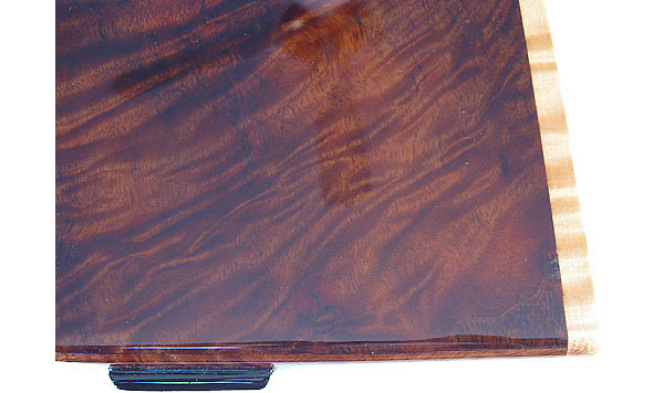 Camphor burl box top close up - Handmade decorative wood box