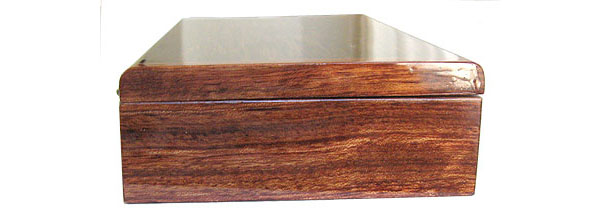 Bubinga box end - Handmade decorative desktop box