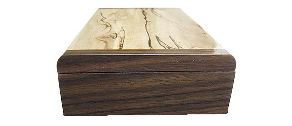 Santos rosewood box end - Handmade decorative slim wood box