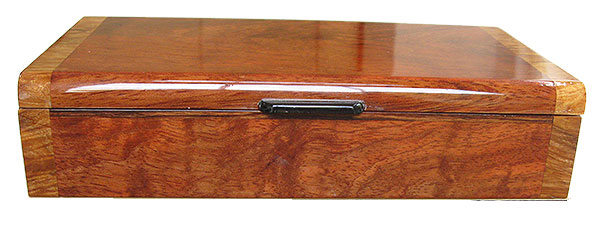 Bubinga box front - Handmade decorative slim wood box