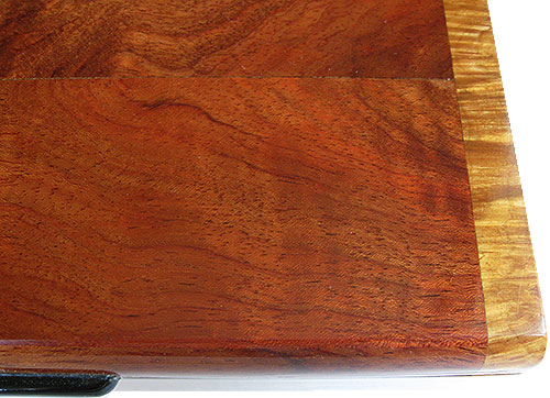Bubinga box top close up - Handmade decorative slim wood box