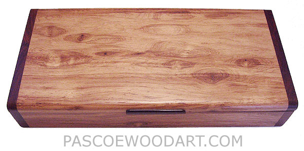 Handmade desktop box - Decorative wood box made of Honduras rosewood, cocobolo