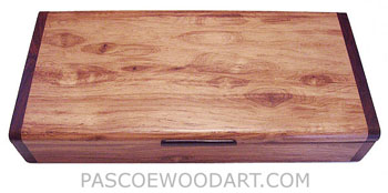 Decorative wood desktop box made of Honduras rosewood, cocobolo