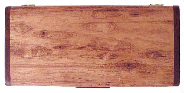 Honduras rosewood box top view - Handmade decorative desktop box