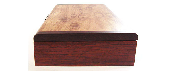 Cocobolo box end - Decorative wood desktop box, pen box
