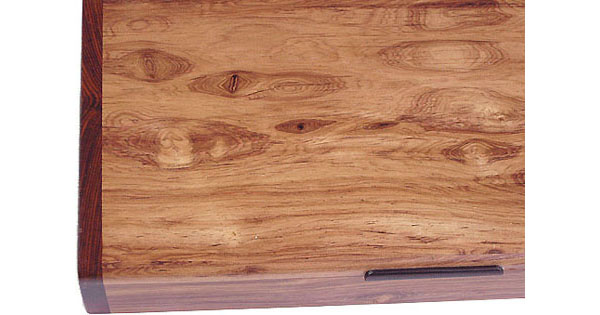 Honduras rosewood box top close up - Decorative desktop box