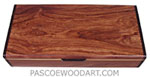 Handmade wood desktop box or pen box made of Honduras rosewood, bois de rose, Ceylon satinwood