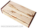 Decorative wood desktop box - Handmade wood box made of spalted maple, kamagong