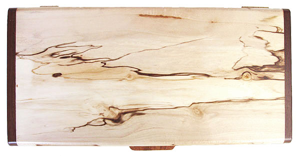 Spalted maple box top - Decorative wood desktop box