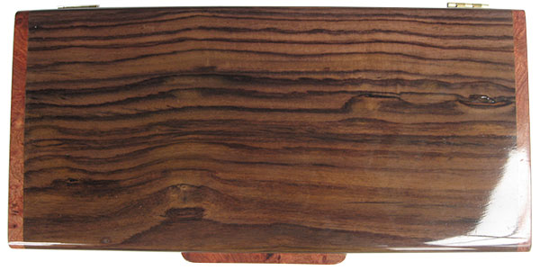 East Indian rosewood box top - Handcrafted slim wood box