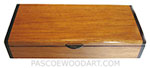 Handmade wood desktop box - Decorative wood box made of narra, bois de rose