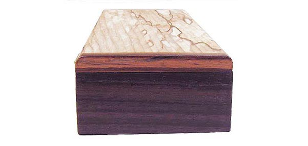 Handmade wood box - Indina Rosewood end