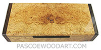 Handcrafted wood box - Decorative wood desktop box made of maple burl with Asian ebony ends