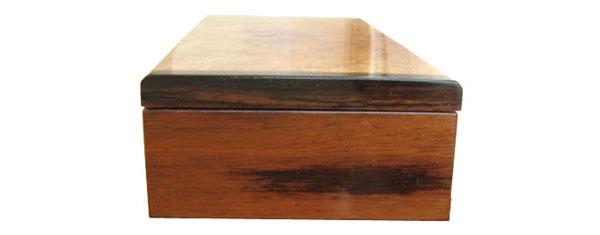 Handmade wood desktop box - Asian ebony end