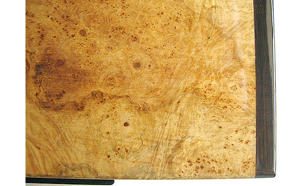 Maple burl box top close up - Handmade decorative wood box