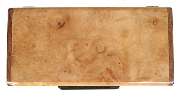 Maple burl box top - Handcrafted wood decorative desktop box