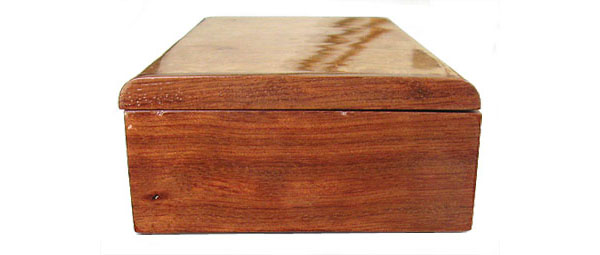 Bubinga box end - Handcrafted decorative wood box