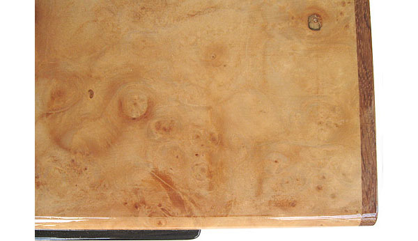 Maple burl box top close up - Handcrafted decorative desktop box