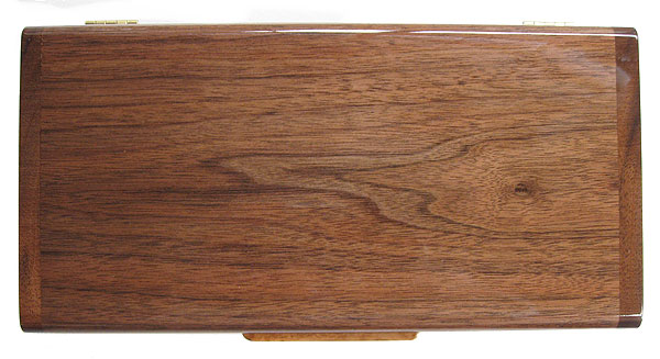 East Eastern walnut box top - Handcrafted decorative desktop box made of Eastern walnut