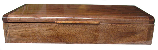Handmade wood box - Decorative wood desktop box made of Indian rosewood - Front view