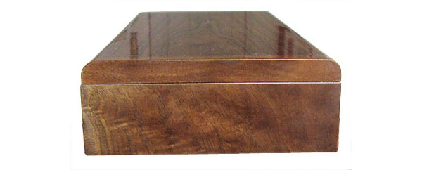 Eastern walnut box end - Handmade wood decorative desktop box