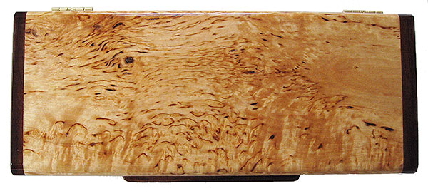Masur birch box top - Handmade wood desktop pen box