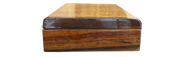 Indian rosewood box end - Handmade wood desktop pen box