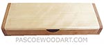 Handmade slim wood box - Decorative wood desktop box made of cherry with aspen top