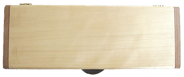 Aspen box top - Handmade slim wood box - Decorative wood desktop box