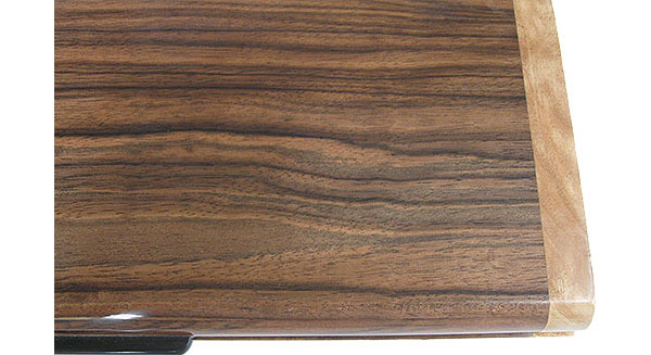 Macassar ebony box top close up - Handmade decorative wood slim box, desktop box
